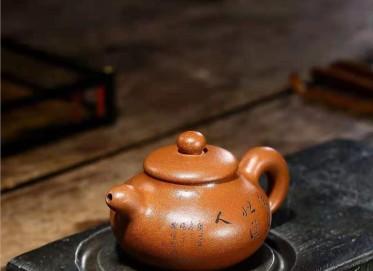 朱正琴紫砂壶作品 蟹黄段泥道韵壶300CC全手工真品多少钱