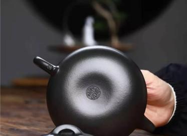 成梅英紫砂壶作品|石黄泥线圆壶350CC全手工正品价格