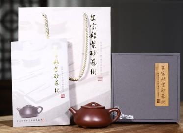 史宗娟紫砂壶作品 石红料景舟石瓢壶180CC手工真品价格