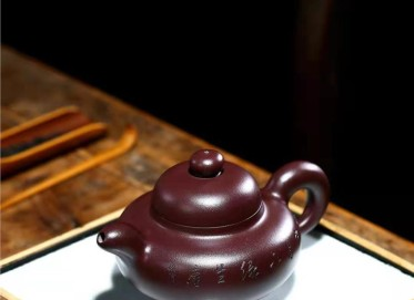 朱正琴紫砂壶作品|原矿紫泥华颖壶300CC纯手工真品价位