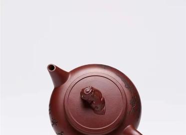 范秀芳紫砂壶作品 原矿紫泥狮球壶250CC手工正品价位