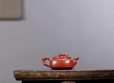 王岳龄紫砂壶作品|原矿大红袍桃韵壶220CC手工正品多少钱