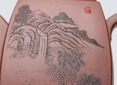 杨慧英紫砂壶作品|原矿底槽清汉方壶450CC纯手工真品行情
