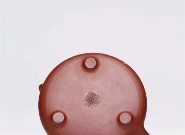 杨慧英紫砂壶作品|原矿紫泥子冶石瓢壶340CC手制正品价格表