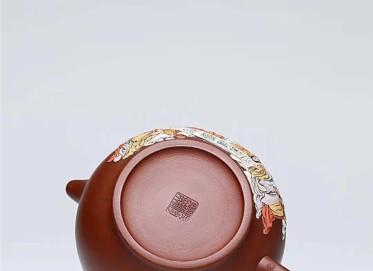 杨慧英紫砂壶作品 原矿大红袍十八罗汉壶850CC纯手工正品多少钱