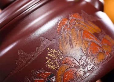 王其明紫砂壶作品 玫瑰红泥德钟壶330CC纯手工正品多少钱