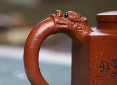 储国峰紫砂壶作品|原矿底槽清威震八方壶320CC手制正品行情