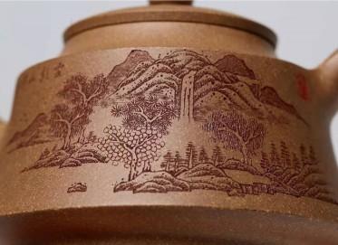杨慧英紫砂壶作品 原矿段泥金钟套组壶300CC手工正品价格表