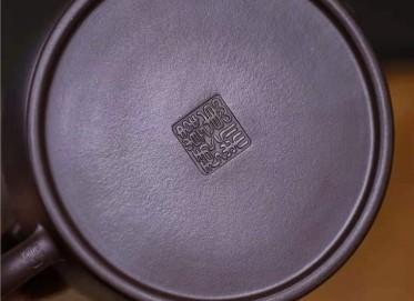 韩惠琴紫砂壶作品 原矿紫泥德钟壶250CC纯手工真品多少钱