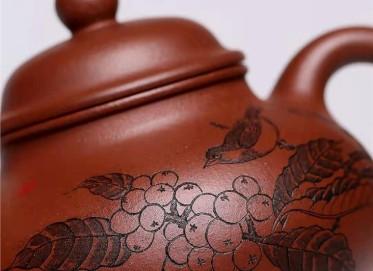 杨慧英紫砂壶作品|原矿底槽清容天壶300CC纯手工真品价值
