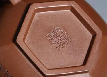 宋晓伟紫砂壶作品|原矿底槽清藏六方套组壶400CC手工正品价格表