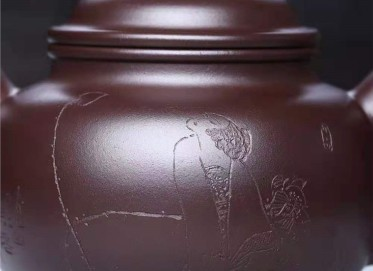 刘莹紫砂壶作品 紫茄泥道洪掇只壶400CC手工真品价位