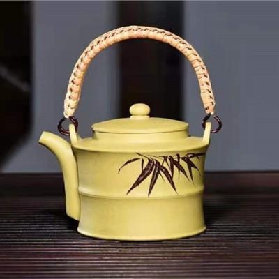 陶金兰作品 竹节提梁