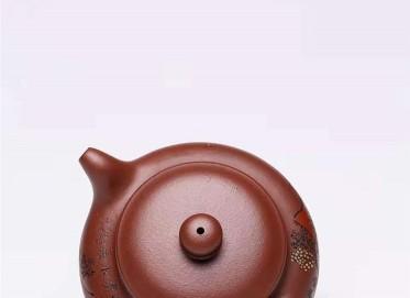 杨慧英紫砂壶作品|原矿底槽清泥绘仿古壶260CC全手工正品多少钱
