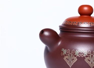 徐永君紫砂壶作品|原矿紫泥道韵掇只壶320CC手制正品价格
