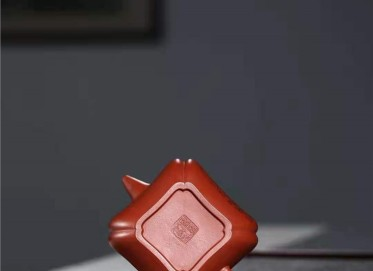 刘莹紫砂壶作品|原矿底槽清四方柱础套组壶260CC全手工真品价格