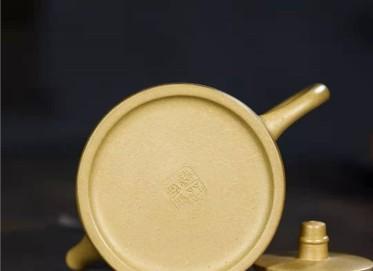 陶金兰紫砂壶作品 本山绿泥汉铎壶230CC全手工真品价格表