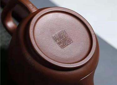 宋晓伟紫砂壶作品 文革紫泥国色天香壶320CC全手工正品价位