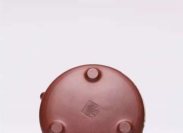 杨慧英紫砂壶作品|原矿紫泥石瓢壶300CC全手工真品价格