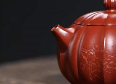 许华芳紫砂壶作品|原矿朱泥锦纹西施壶220CC手工正品价格表