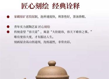 杨慧英紫砂壶作品 原矿段泥容天壶300CC纯手工正品怎么样