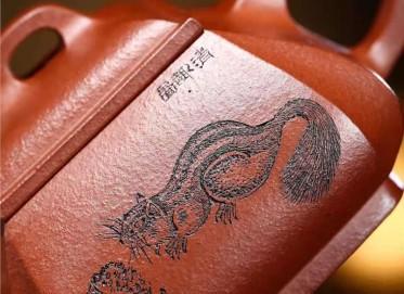 陶金兰紫砂壶作品 原矿底槽清四方抽角石瓢壶260CC手制真品多少钱