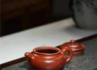 刘莹紫砂壶作品 原矿大红袍仿古壶320CC纯手工正品怎么样