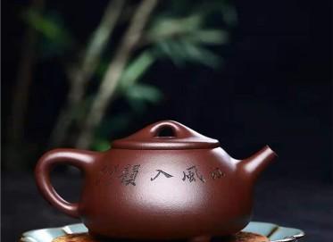 徐建平紫砂壶作品|原矿紫泥石瓢壶300CC手工正品价格