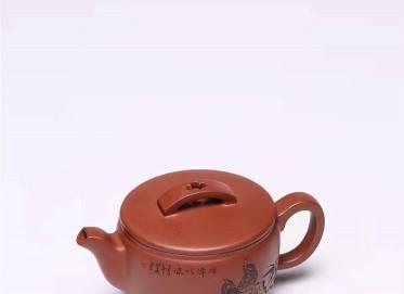 杨慧英紫砂壶作品 原矿底槽清汉瓦壶250CC手制真品价位