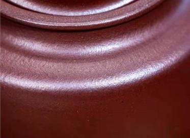 周云紫砂壶作品 石红泥德钟壶230CC手工真品价格