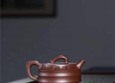 宋晓伟紫砂壶作品|文革紫泥富贵有余壶300CC全手工正品价位
