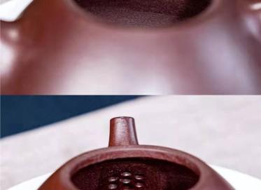 周云紫砂壶作品 石红泥子冶石瓢壶350CC纯手工正品行情