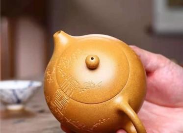 葛岳纯紫砂壶作品 原矿黄金段泥西施壶290CC手工正品价位