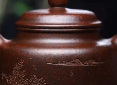 徐建平紫砂壶作品|铁砂泥德钟壶300CC纯手工正品价格表