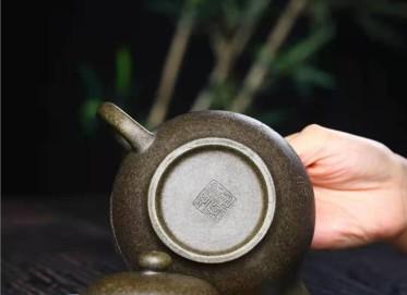 徐建平紫砂壶作品|龙背青掇只壶400CC纯手工正品价格