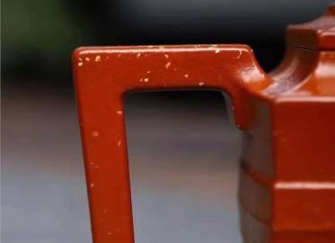 耿浩紫砂壶作品|赤龙焕彩狮方壶230CC手工正品价格