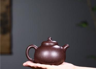 徐永君紫砂壶作品 桂花砂泥三足乳鼎壶360CC手制正品行情