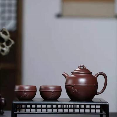许华芳作品 束竹壶