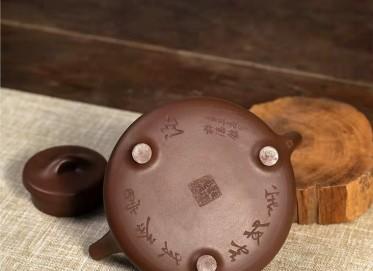 范微琴紫砂壶作品 原矿紫泥子冶石瓢壶280CC全手工正品价位