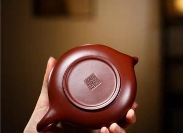 谈敏紫砂壶作品 原矿龙血砂凤鸣壶200CC纯手工真品价格