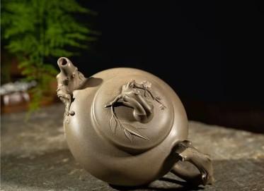 范微琴紫砂壶作品|龙背青岁寒三友壶550CC手制正品价格