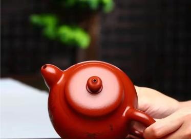 潘雪锋紫砂壶作品 原矿大红袍圆逸壶430CC手工正品价值