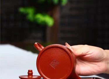 潘雪锋紫砂壶作品 小煤窑朱泥汉铎壶180CC全手工真品多少钱