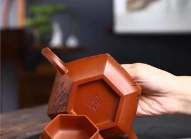 刘政紫砂壶作品|原矿清水泥藏六方壶350CC纯手工正品怎么样