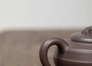 范微琴紫砂壶作品|原矿青灰泥汉君如意壶410CC纯手工真品价值