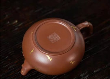顾跃君紫砂壶作品 原矿底槽清竹节壶210CC手制正品价格表