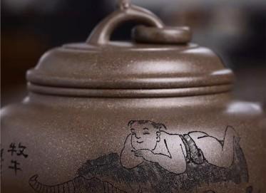 何其仙紫砂壶作品|原矿段泥三足宝炉壶260CC纯手工正品价格