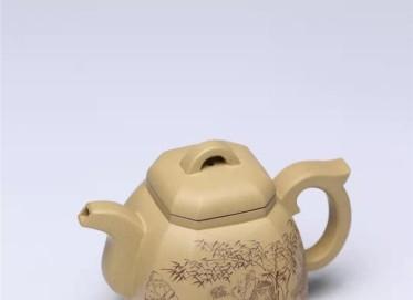 王玉芳紫砂壶作品|本山绿泥福临八方壶360CC全手工正品价值