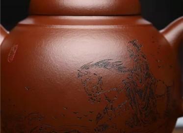 潘雪锋紫砂壶作品 原矿紫泥九洲鼎壶420CC手工正品价格表