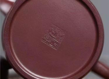 潘雪锋紫砂壶作品 原矿龙血砂新式秦权壶330CC手制正品价格